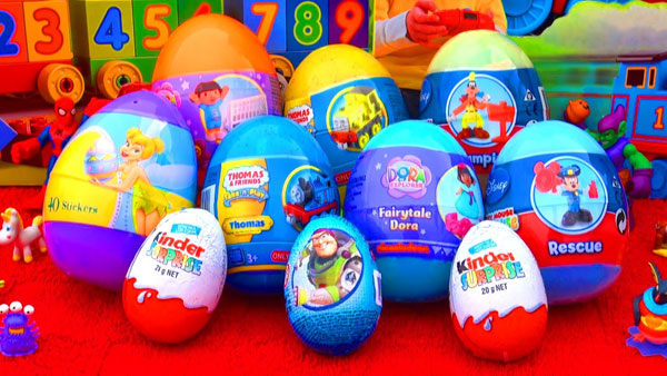 United States: Kinder Surprise candy eggs