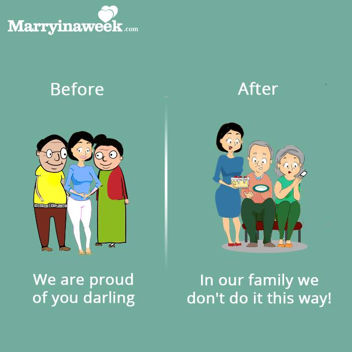 Because you don't marry the boy, you marry his family