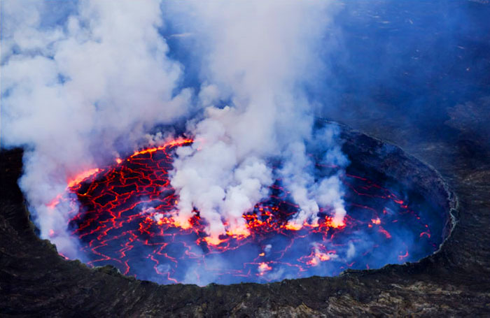 Lava Lake, Nyiragongo Volcano, Congo
