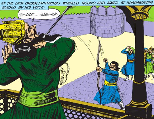 Prithviraj Chauhan kills Muhammad Ghori