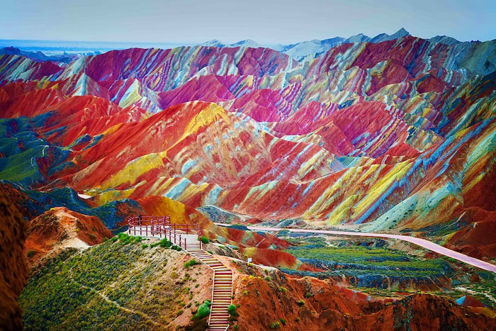 Rainbow Mountains, Zhangye Danxia, China