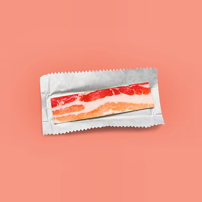 Food Artist Bacon Gum