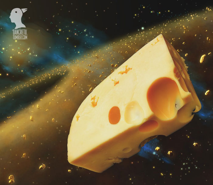 Food Sculptures Cheese in Galaxy