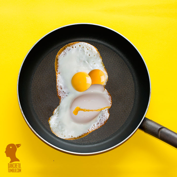 Food Artist Egg Homer