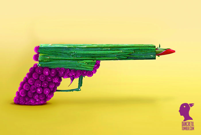 Food Sculptures Rose Pistol