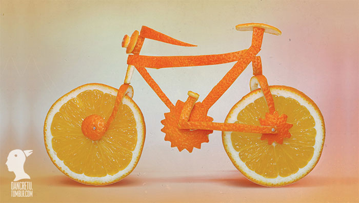 Food Sculptures Juicy Bike