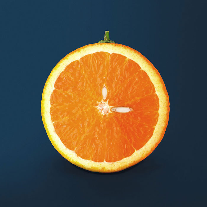 Food Artist Orange Clock