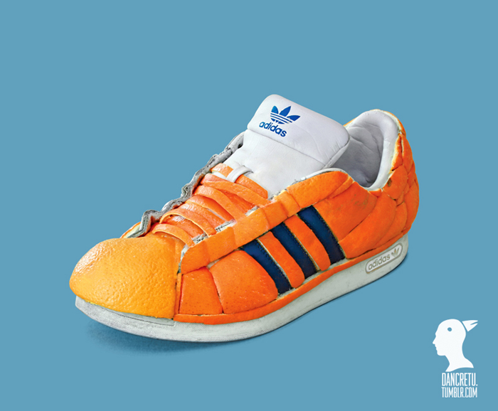 Food Sculptures Orange Adidas