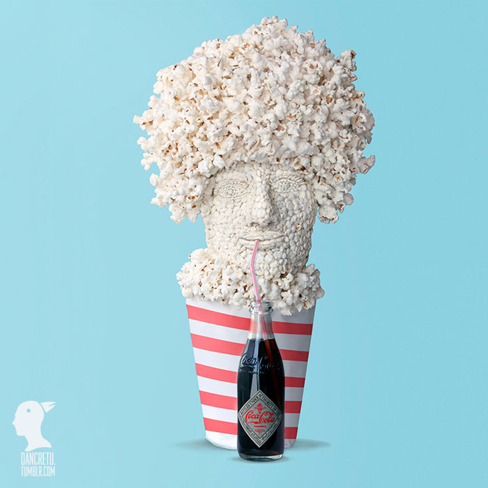 Food Sculptures Popcorn Man