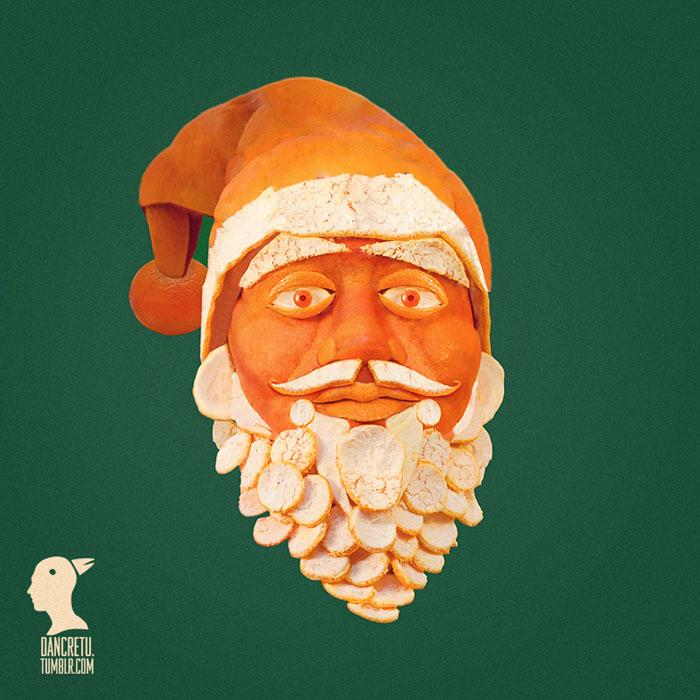 Food Artist Santa Claus