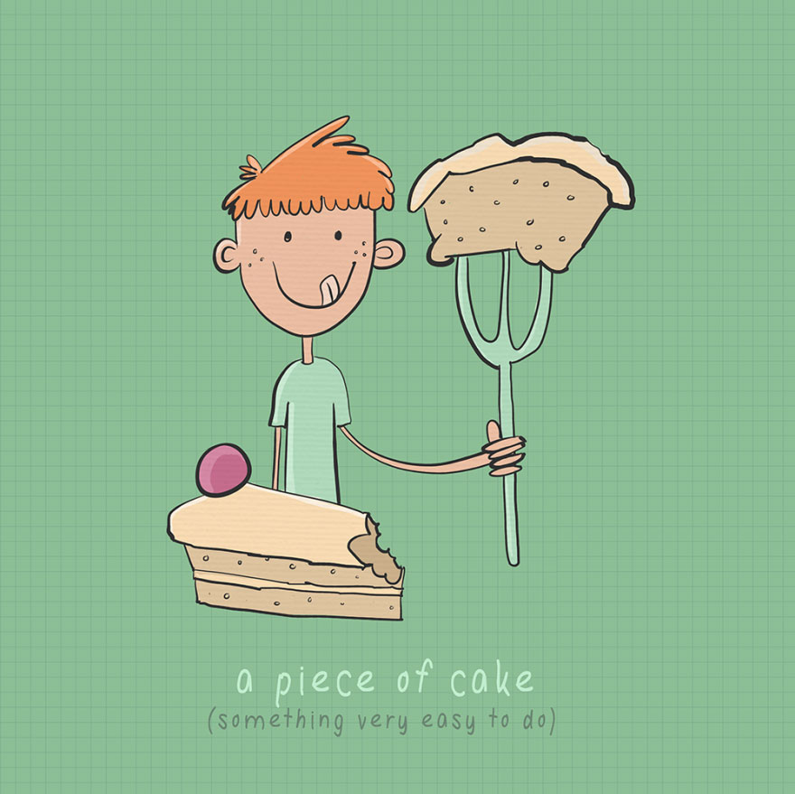 English idiom - A piece of cake