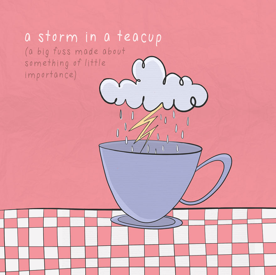 English idiom - A storm in a teacup