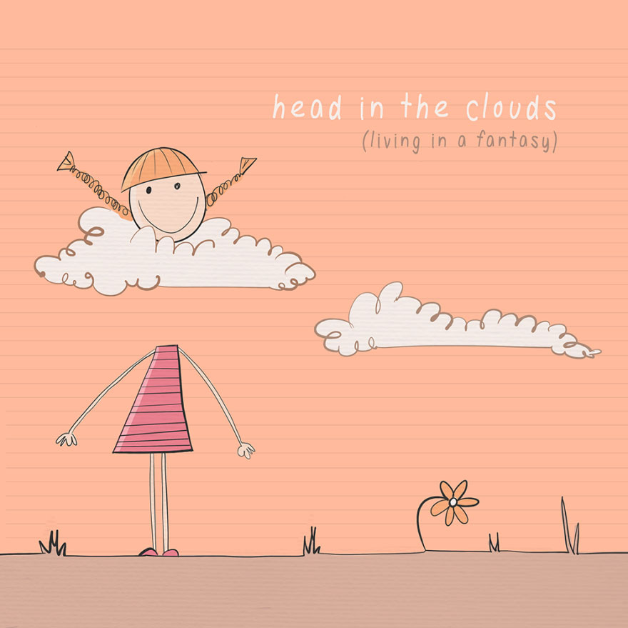 English idiom - Head in the clouds