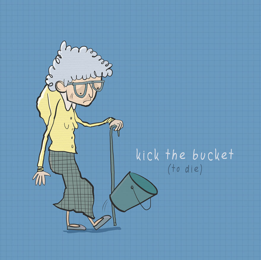 English idiom - Kick the bucket