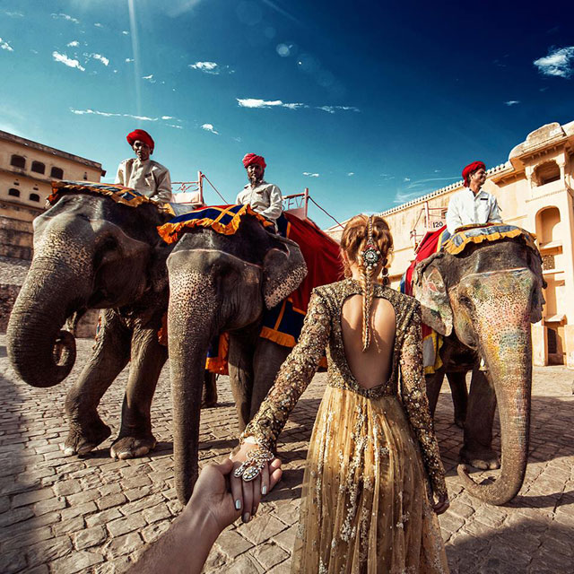 Murad Osmann chased to Amer Fort, Jaipur