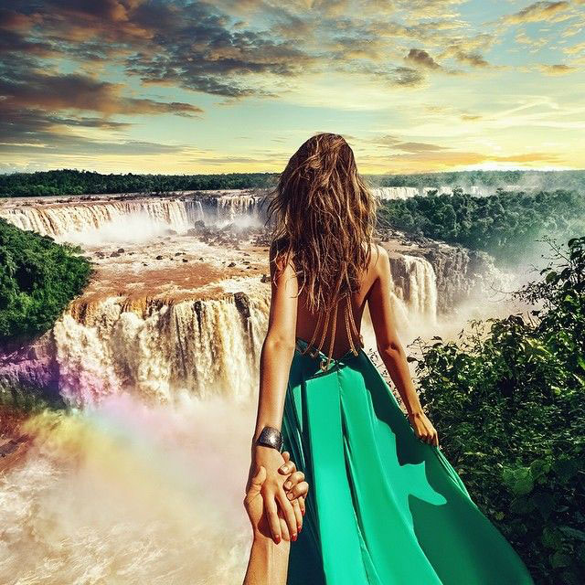 Follow Me To Iguazu waterfalls, Brazil