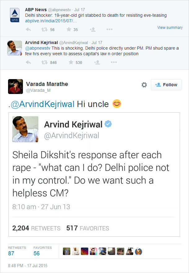 Arvind Kejriwal gets trolled on Twitter after making witty comment