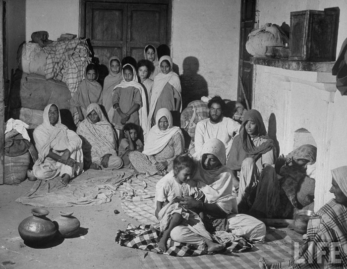 A family of Sikh refugees from Lahore