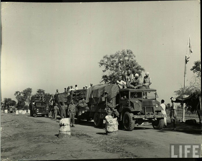 Frontier guards truck checking refugees, those who on their way to Pakistan