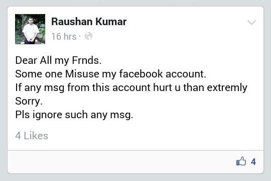 Raushan Kumar Facebook