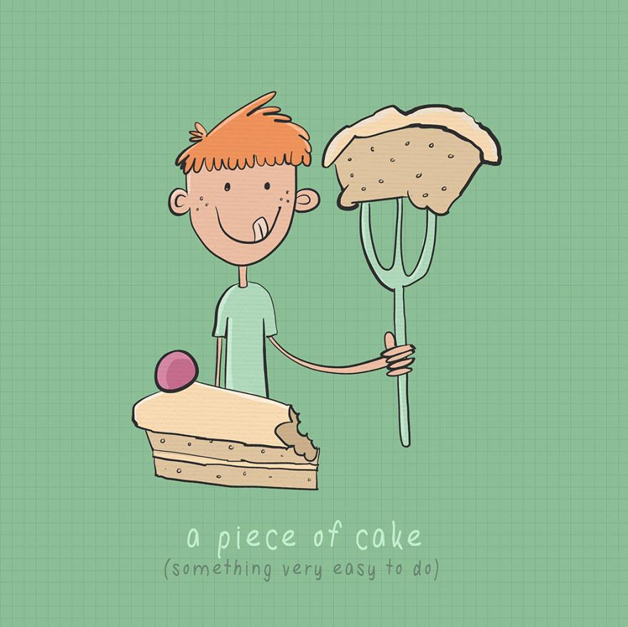 English idiom - A piece of cake