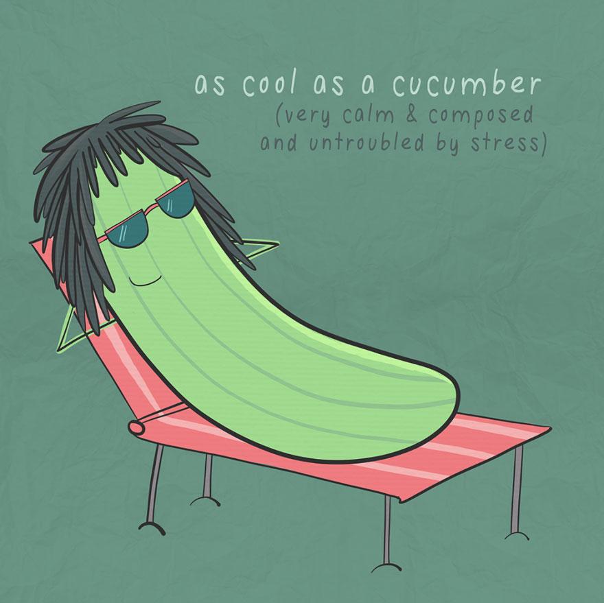 English idiom - As cool as a cucumber