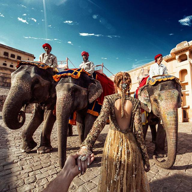 Murad Osmann chased to Amer Fort, Jaipur