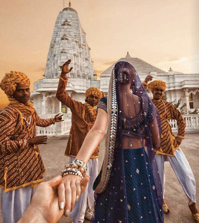 Murad Osmann chased to Birla temple, Jaipur