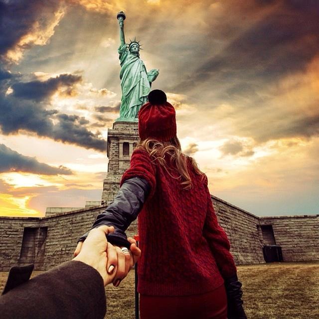 Murad Osmann chased to New York, USA