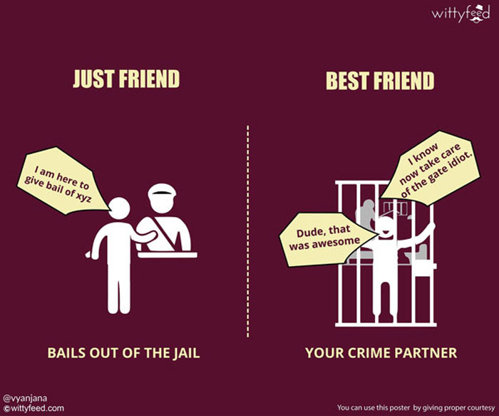 Best friends are your true partners in crime