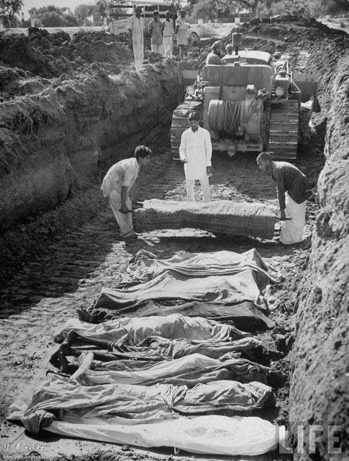 Countless bodies being buried