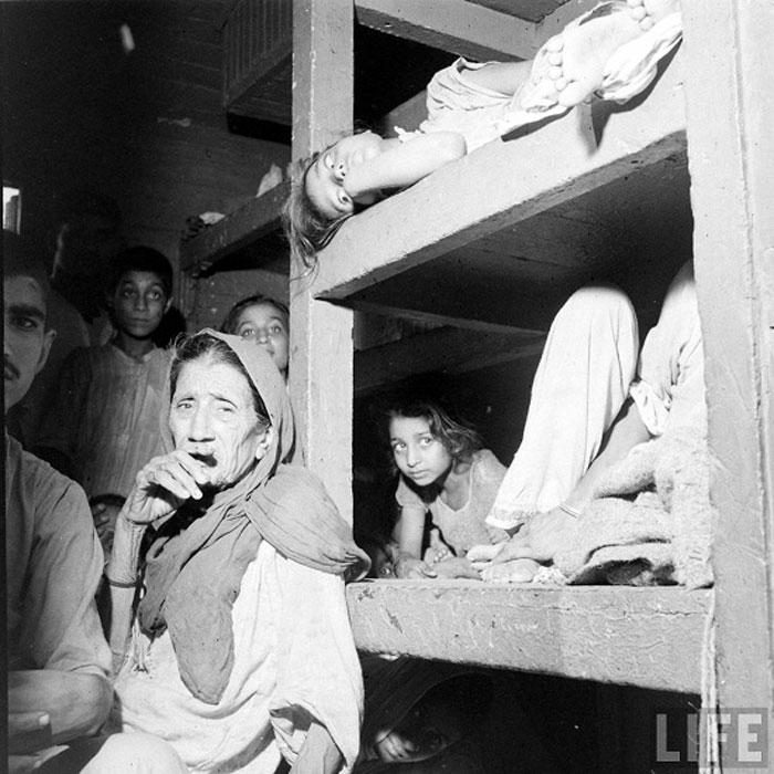 Refugees in refugee camp