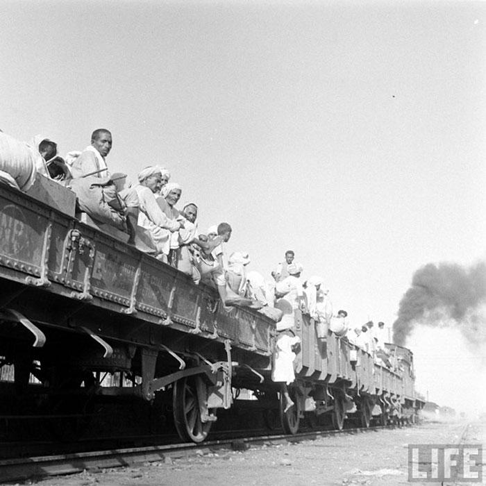 Mass migration on train