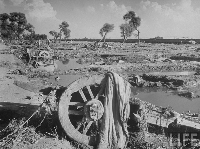 Wreckage left after millions were uprooted