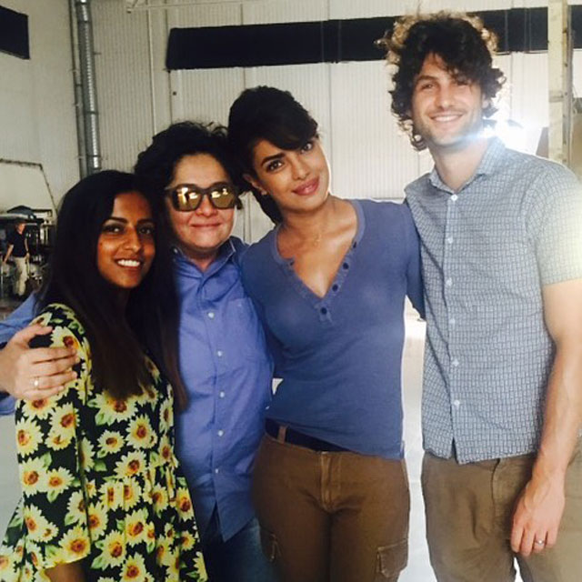 Priyanka Chopra Leading American TV Show Quantico - Her manager Mrinaal Chablani went to visit her on set.