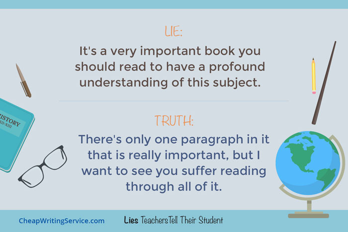 Lies Teachers Tell Their Students - It's a very important book you should read.